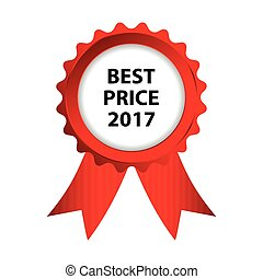 special red badge, best price 2017 promotional label