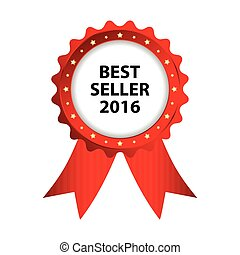special red badge, best seller 2016 promotional label