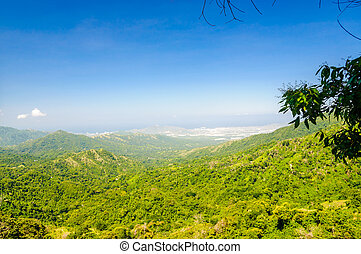Rural mountain landscape by Minca with view on Santa Marta...