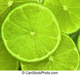 Lime slices abstract food background