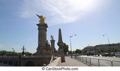 The Alexander bridge in Paris - Shot of The Alexander bridge...