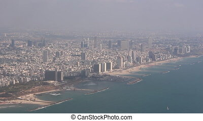 tel aviv coastline - Shot of tel aviv coastline