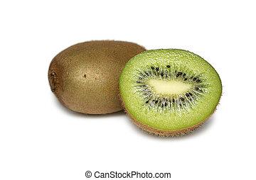 Kiwi isolated on white background. Fresh juicy fruit.