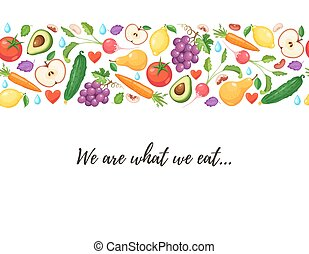 healthy eating poster - We are what we eat. Healthy...
