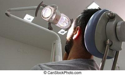 Teeth pain at the dentist - Shot of Teeth pain at the...