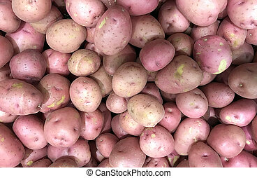 Raw Potatoes Background