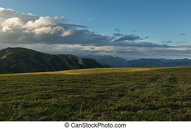 Before sunset sky over the Viluchinsky pass - Before the...