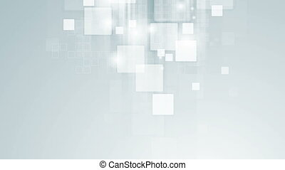 Abstract light blue tech geometric video animation -...