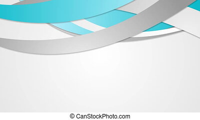 Abstract corporate cyan blue waves video animation -...
