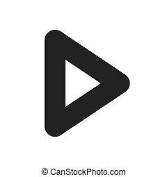 play arrow symbol icon vector