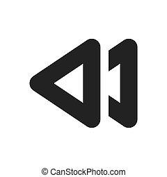 backward arrow symbol icon vector