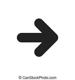 arrow symbol icon vector