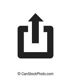 power arrow symbol icon vector