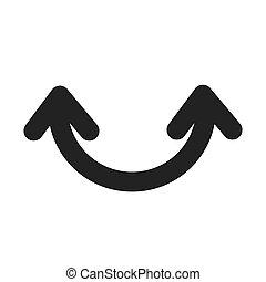 curve arrow symbol icon vector