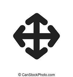 Move directional arrow symbol icon vector