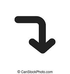 Design arrow symbol icon vector