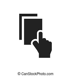 Pick up card ATM Symbol Icon Design