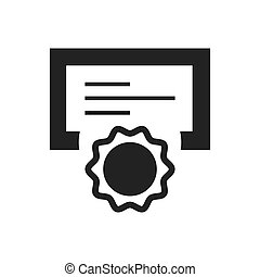 Certificate Awards vector icons