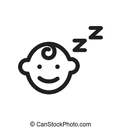 baby sleep icon symbol