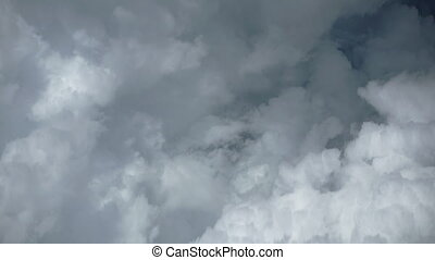 Dense, Ominous Clouds from Airborne Perspective - Airborne...