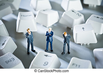 figurines with keyboard key\'s