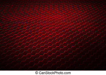 red hexagon background and texture.