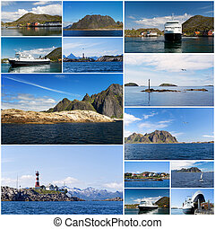 A collage of Norwegian landscape