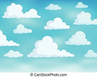 Clouds on sky theme 3 - eps10 vector illustration.