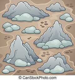 Rocks thematic image illustration.
