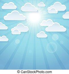 Stylized clouds theme illustration.