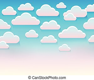 Stylized clouds theme image