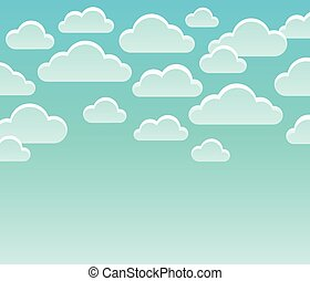 Stylized clouds theme image 7 - eps10 vector illustration.