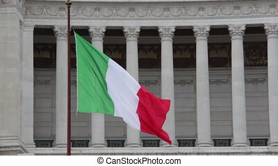 Waving flag of Italy - Shot of Waving flag of Italy