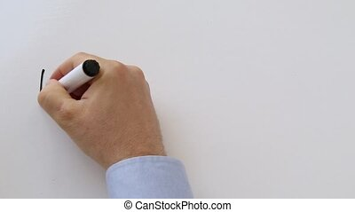 Whiteboard animation intro - Whiteboard writing business...