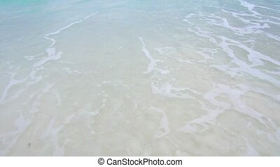 sea or indian ocean waves on beach