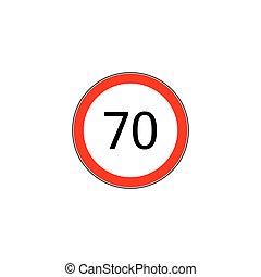 Prescribed minimum speed oad sign - Prescribed minimum speed...