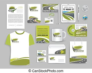 Corporate identity template for road build company -...