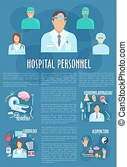 Medical personnel poster for healthcare design