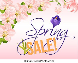 Sale vector poster for spring holiday discount