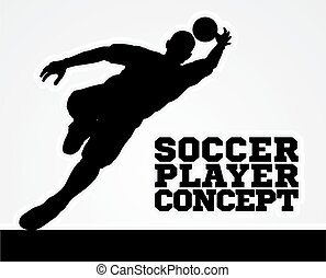 Silhouette Football Soccer Goal Keeper - A stylised...