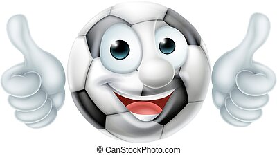 Soccer Football Ball Man Cartoon Character - A happy cartoon...