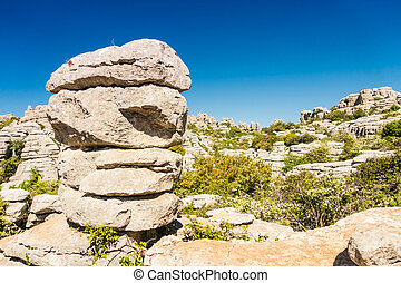 Torcal in Antequera, Malaga, Spain