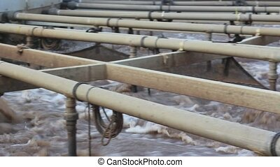 wastewater aeration facility - Shot of wastewater aeration...