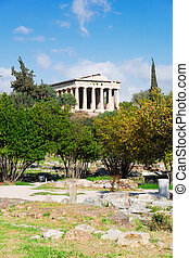 Agora of Athens, Greece - Temple of Hephaestus and Ancient...
