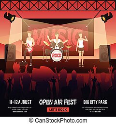 Open Air Festival Banner - Festival square banner with...