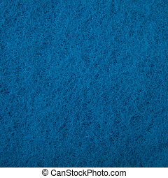 Texture of a blue washcloth macro