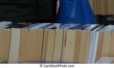 used books market - Shot of used books market
