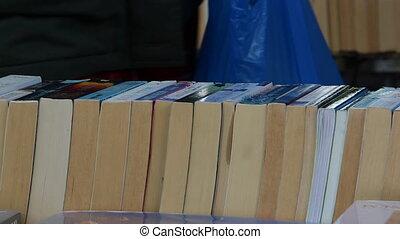 used books market - Shot of used books market