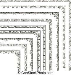 Vector ornamental frame corners and borders