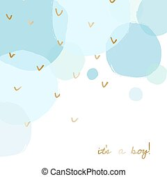 Baby Shower Greeting Card Design
